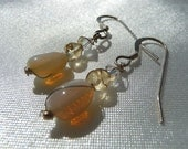 OPAL ANGEL EARRINGS- Opal, Citrine, Crystal Earrings