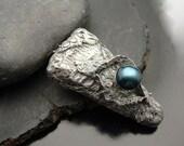 Pendant Fine Silver - Blue Cultured Pearl