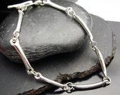 The Missing  Link Sterling Silver Bracelet