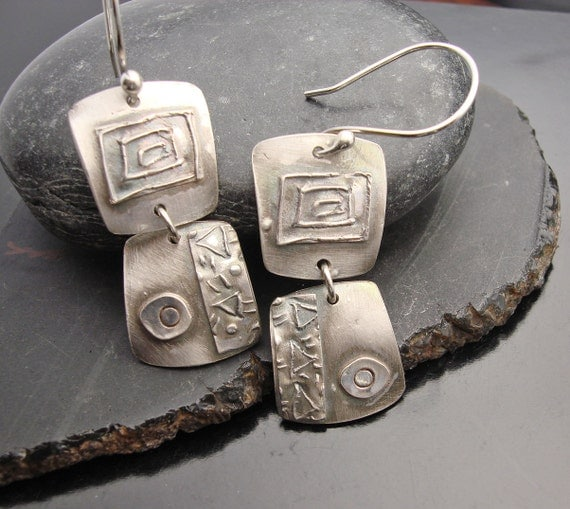 Double Take - Fine Silver Earrings