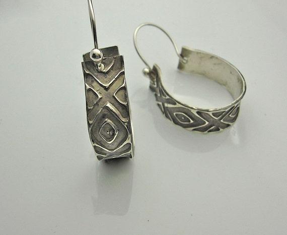 Diamond Girl - Sterling Silver Hoop Earrings