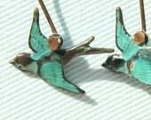 Blue Bird Earrings