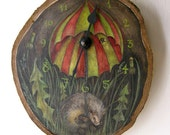 RESERVED - The Hedge Brother Clock - Rustic hand-painted folktale clock