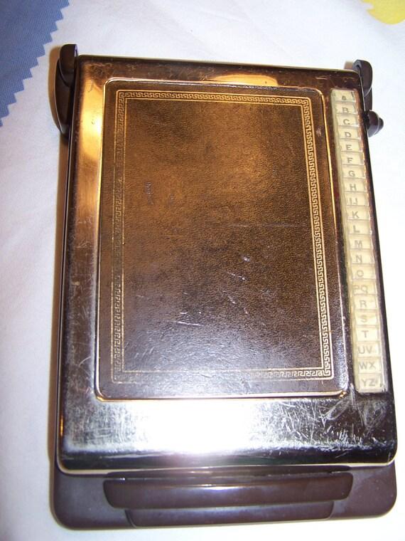 Vintage Bates Address File Listfinder with Cards Cavalier Model