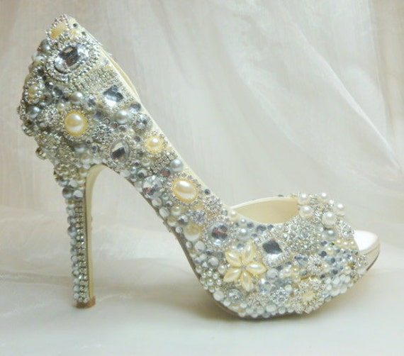Special custom listing for Brittney ...one third deposit for peep toed cinderella's wish