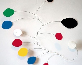 MOD Art Mobile Sculpture - retro hip cool Calder inspired modern hanging art