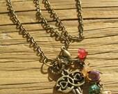 Antique Brass Key Necklace