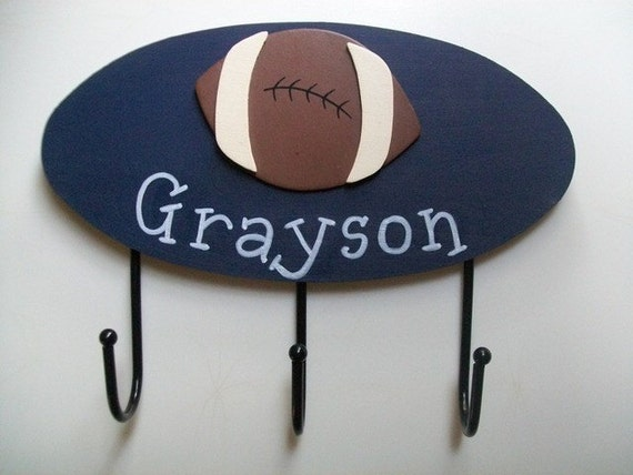 SPORTS Theme Wall Hooks for the Nursery Bedroom or Bathroom