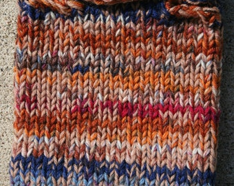 Ready To Ship-Rich Fall Colored Pup Cowl OOAK- matcking socks for mommy sold also- size Small-