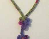 Hand Knit Multi Sculpted Loops Lariat Necklace