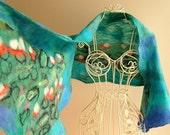 Water Lilies - A heart felt scarf shawl by Arc En Ciel creations