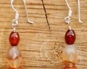 carnelian splendor earrings