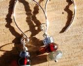Glowing Twilight Mountain earrings