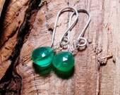 Place of green water earrings