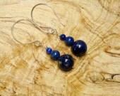 Deep blue Sky  earrings
