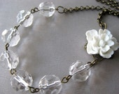 Crystal and White Blossom