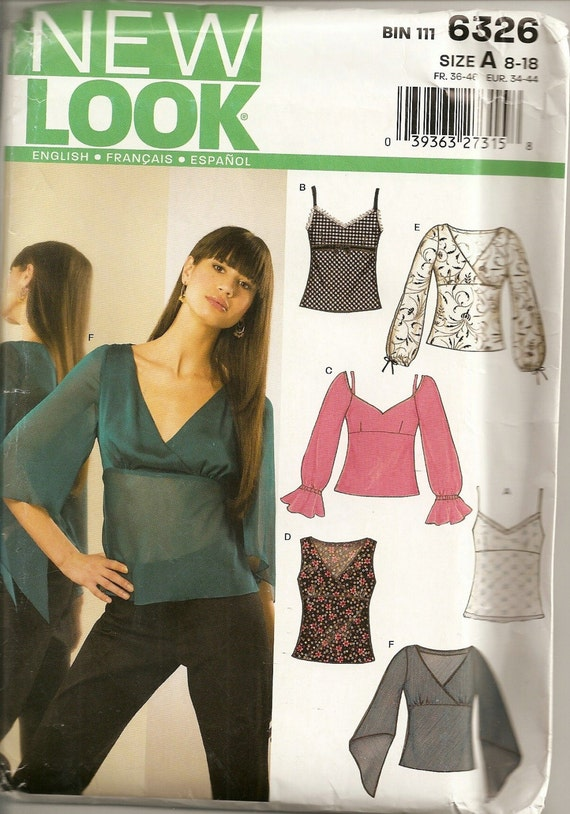You'll Look MAHVAHLUS  In These Flattering Tops - - New Look 6326 - Sizes 8-18., EUR. 34-44, FR. 36-36