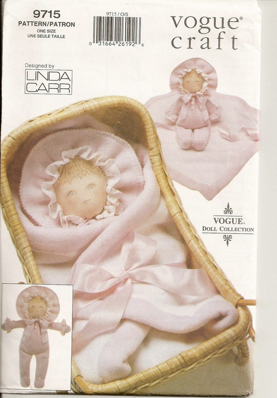 Vogue Baby Doll Linda Carr Doll Pattern 9715 For 17 Inch