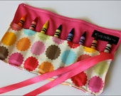 Mini Me Flower Dot Crayon Holder-8 Crayola Crayons Included-Great Stocking Stuffer