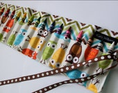 Owls and Chevron Crayon Holder Organizer-16 Crayola Crayons Included-Makes a Great Gift or Christmas Gift