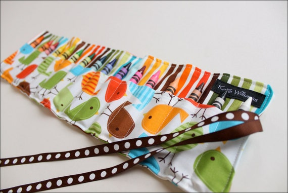 New-Spring Chicks Crayon Roll-16 Crayola Crayons Included-Great Gift-Great Easter Basket Gift