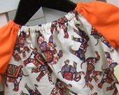 SALE - Elephant Caravan Frock - smallish - READY TO SHIP