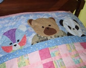 Quilt, Three Bears Crib