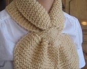 cream caffe latte ballet scarf or Neck Warmer