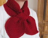 Cranberry ascot bow knot scarf