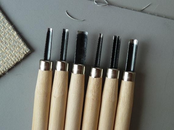 Linocut tools - set of six