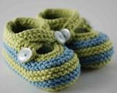 Blue Lollipop Striped Baby Booties