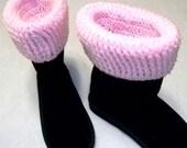Pink Boot Topper Cuffs