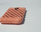iPhone5 Case Samsung Phone Holder Orange Sherbert - krochetlady