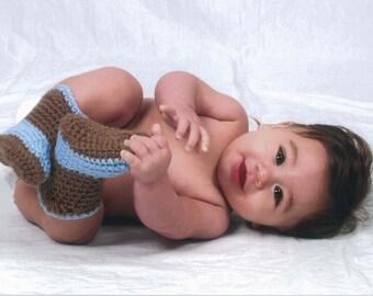 Crochet Cowboy Boots Handmade Baby Booties