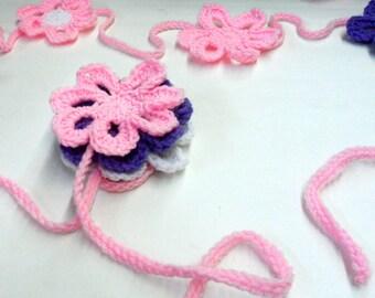 Flower Garland, Spring Decoration, Girls Room Decor, Easter Garland