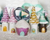 sweet cupcake house ornament
