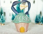 be merry cupcake house ornament