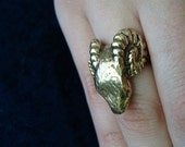 Vintage 1970's Scary Ram Ring