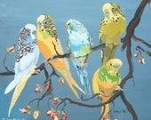 Parakeets - small notecard - CA-022