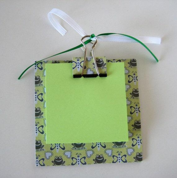 Frog Themed Post It Note Holder