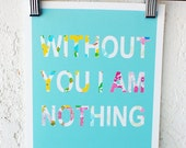Without You I Am Nothing Vintage Floral Printable