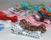 You Pick 6 No-Slip Hair Clips - Pink, Brown, Green, Blue, White etc. - FLAT RATE SHIPPING