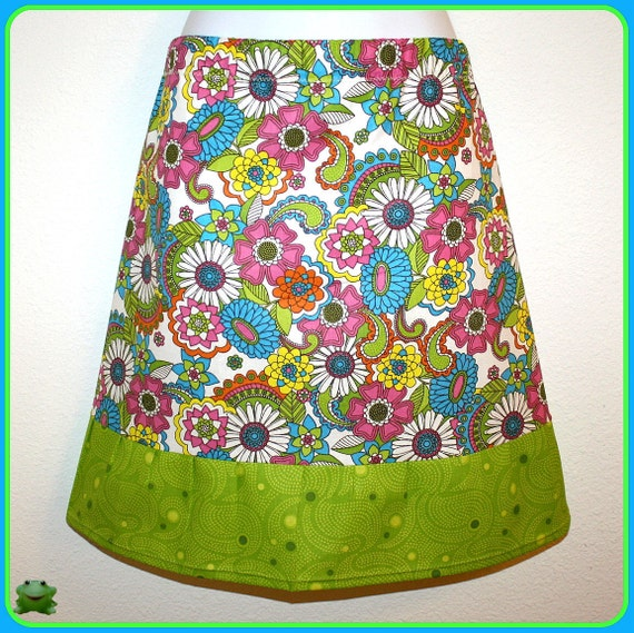 Skirt,  Aline, 32 inches around at Waist stretches to 39 inches, Cotton, Size Large, X Large