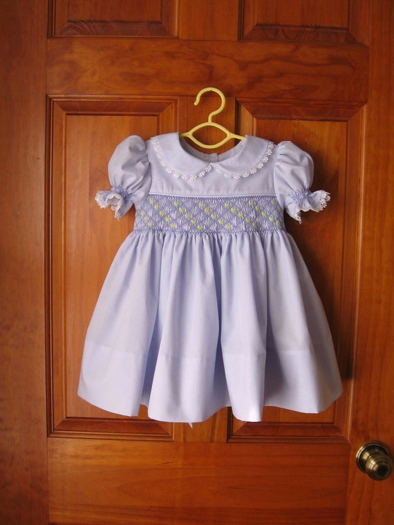 Baby/Infant girl lavender hand smocked dress Size 18Mo.