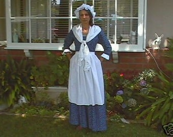 4 pc colonial womens dress milkmaid costume