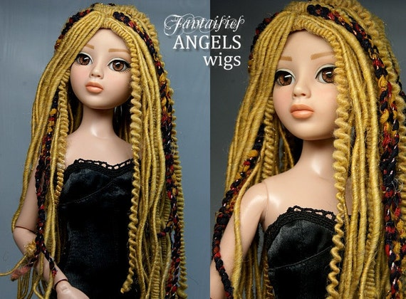 Custom Wig for Ellowyne, Lizette, Prudence and Amber, Narae, Iplehouse JID - BUTTERSCOTCH - Laurie Lenz Angels Fantaisie wigs