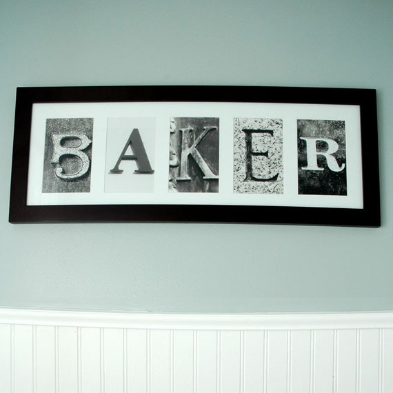 custom name frame 5 letters With letter name frames