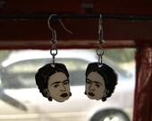 Frida Earrings- Hand Drawn Shrink Plastic Earrings