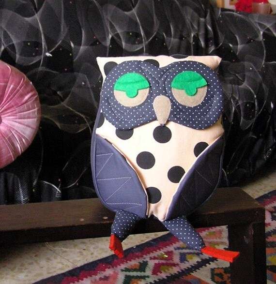 Peach Grey Owl