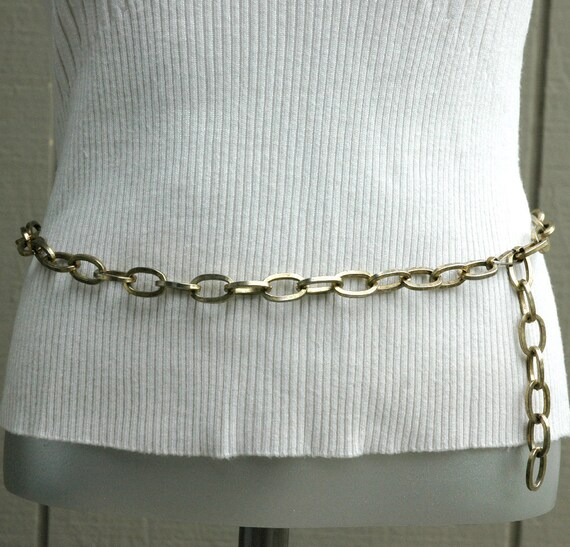 Vintage Brass Heavy Chain Belt
